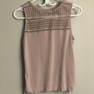Tops - 3/35$ Mauve embroidered detail blouse
